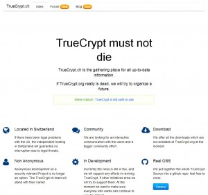 Truecrypt encryption software still available for download